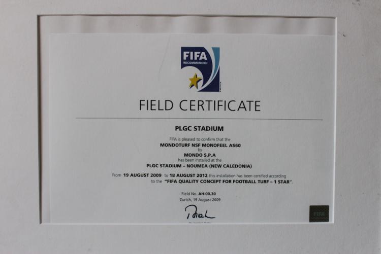 FIFA CERTIFICATE